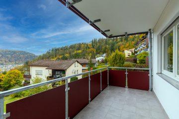 Gepflegte 1 – Zimmerwohnung mit traumhafter Aussicht und Blick über die Stadt, 75378 Bad Liebenzell, Etagenwohnung